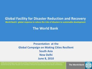 Global Facility for Disaster Reduction and Recovery