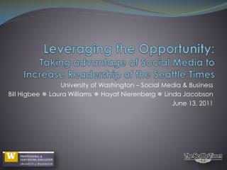 University of Washington – Social Media & Business