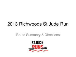 2013  Richwoods  St Jude Run