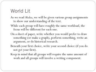 World Lit