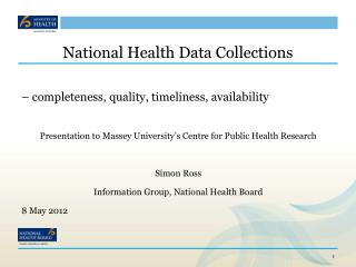 National Health Data Collections