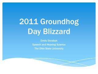 2011 Groundhog  Day Blizzard