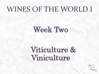 Wines of the world I