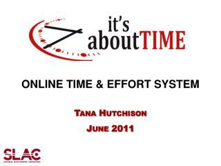 ONLINE TIME & EFFORT SYSTEM