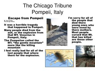The Chicago Tribune Pompeii, Italy