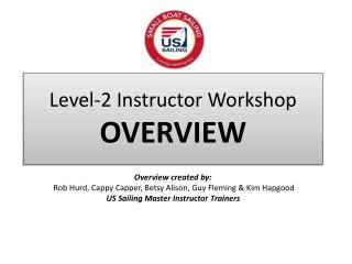 Level-2 Instructor Workshop OVERVIEW