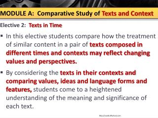 a comparitive study of texts comparing Now read the following sample answer to a question on the comparative study of texts take two texts you have studied for your comparative course and compare the.