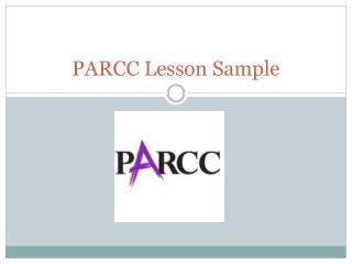 PARCC Lesson Sample