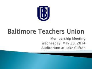 Baltimore Teachers Union
