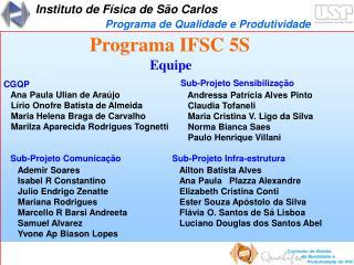 Programa IFSC 5S