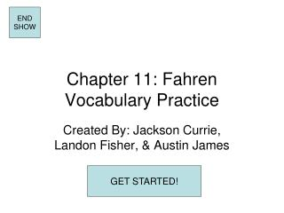 Chapter 11: Fahren Vocabulary Practice