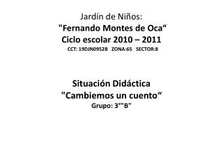 Situaci�n Did�ctica