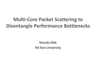 Multi-Core Packet Scattering to Disentangle Performance Bottlenecks