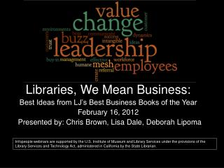 Libraries, We Mean Business: Best Ideas from LJ's Best Business Books of the Year