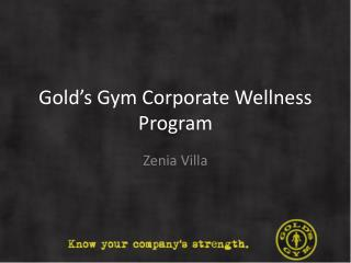 Gold's Gym Corporate Wellness Program