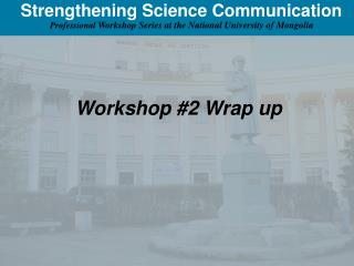 Strengthening Science Communication