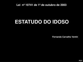ESTATUDO DO IDOSO
