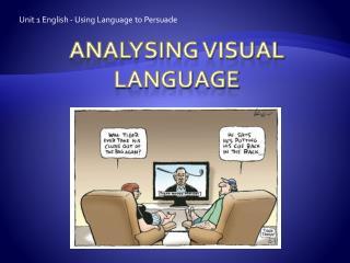 Analysing visual language