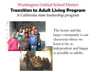 Program Goals: Daily Living Skills