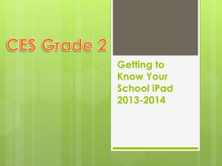 Getting to Know Your School  iPad 2013-2014