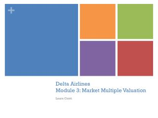 Delta Airlines Module 3: Market Multiple Valuation