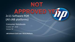 2c11 Software POR (All cNB platforms)