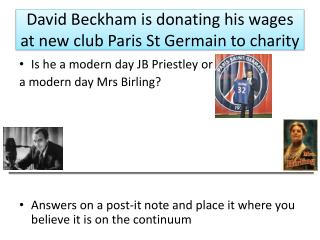 David Beckham is donating his wages at new club Paris St  Germain  to charity