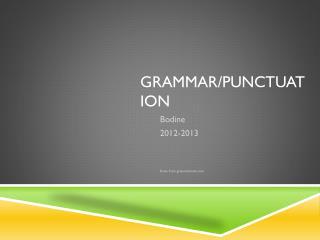 Grammar/Punctuation