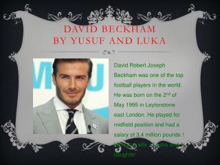 David Beckham by Yusuf and Luka