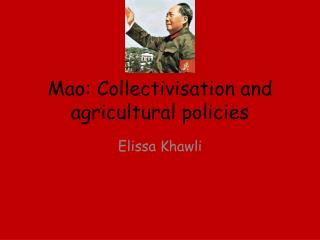 Mao: Collectivisation and agricultural policies