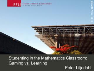 Studenting in the Mathematics Classroom:  Gaming  vs. Learning