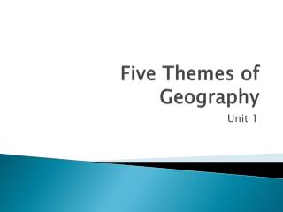 Five Themes of Geography
