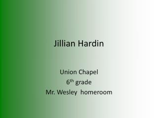 Jillian H ardin