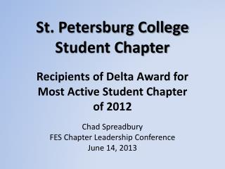 St. Petersburg College Student Chapter