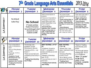7 th   Grade Language Arts Essentials