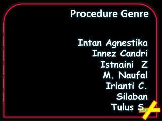 Procedure Genre