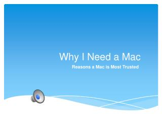 Why I Need a Mac