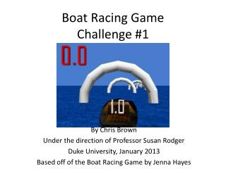Boat Racing Game Challenge #1