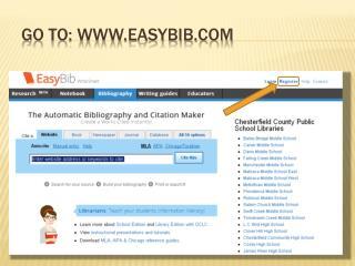 Go to: www.easybib.com