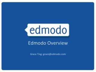 Edmodo Overview Grace  Ting: grace@edmodo.com