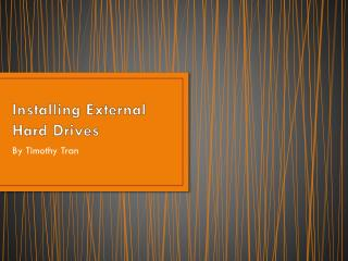 Installing External Hard Drives