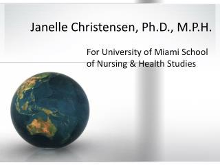 Janelle Christensen, Ph.D., M.P.H.