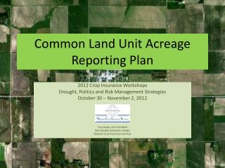 Common Land Unit Acreage Reporting Plan