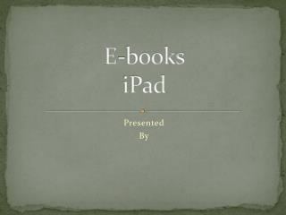E-books iPad