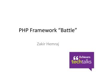 "PHP Framework ""Battle"""