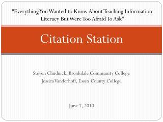 Citation Station