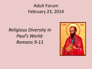 Adult Forum February 23, 2014