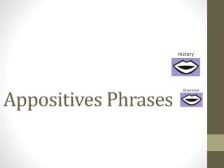Appositives Phrases