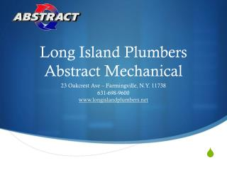 Long Island Plumbers, Abstract Mechanical