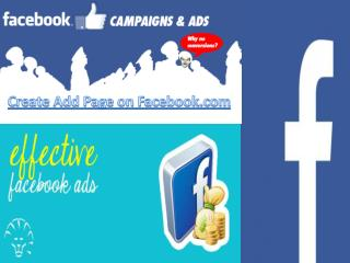 Create Add Page on Facebook.com